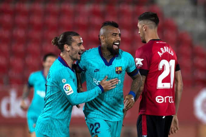 Barcelona players vs Mallorca