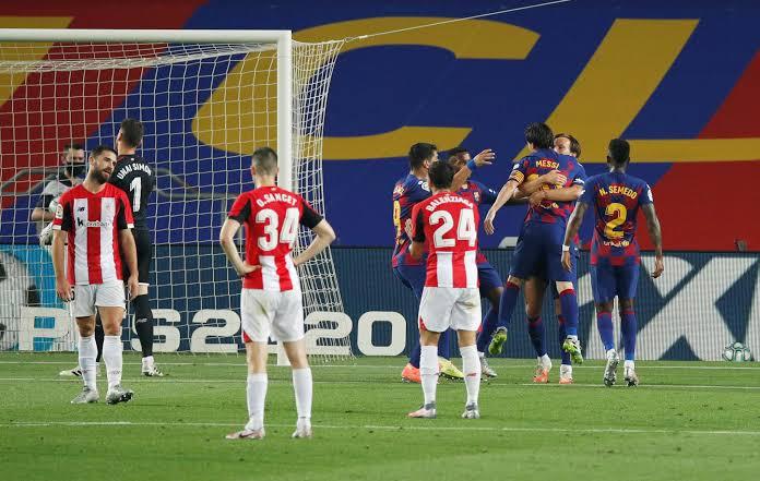 Barcelona players vs Athletic Bilbao